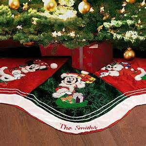disney christmas tree skirt personalizable santa mickey