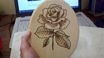 simple rose wood burning by hokahey09 on deviantart