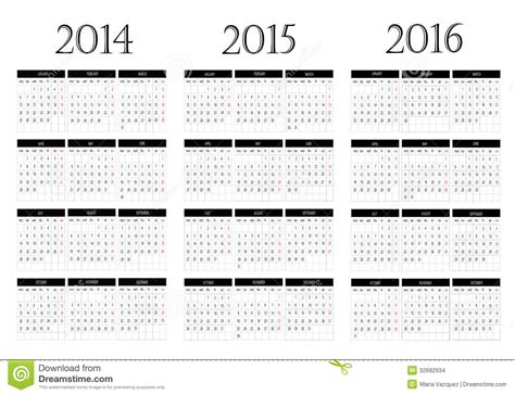 printable 3 year calendar 2014 to 2016 printable calendar 2014 and 2015 and 2016 yearly