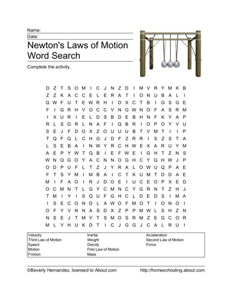 Laws Search Printables And Motion Worksheets 5th Grade Gozoneguide Thousands Of Printable