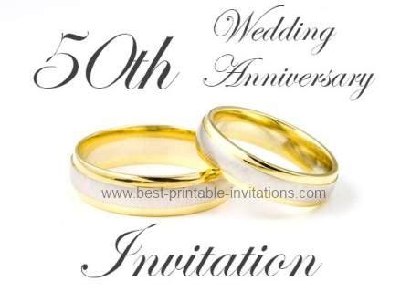 golden wedding anniversary invitation templates 50th anniversary invitations golden wedding invites