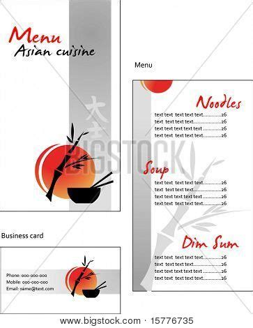 japanese menu card template template designs of menu and business card for asian