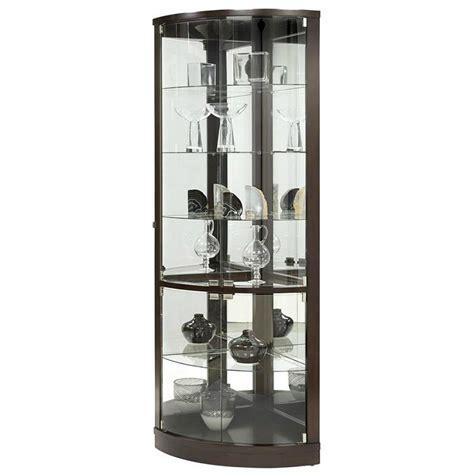 corner curio cabinet amazon pulaski cannes corner curio cabinet black amazon ca