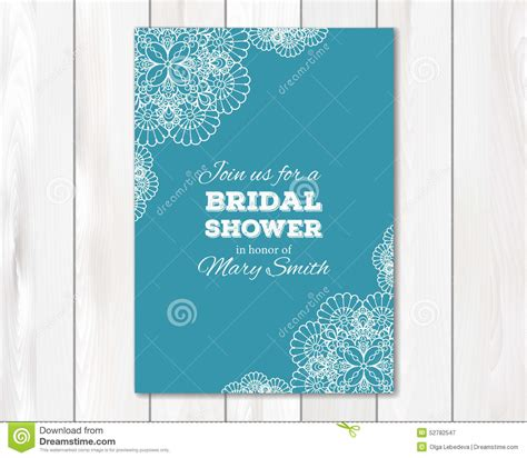 6x6 card design templates bridal shower or wedding invitation card template stock