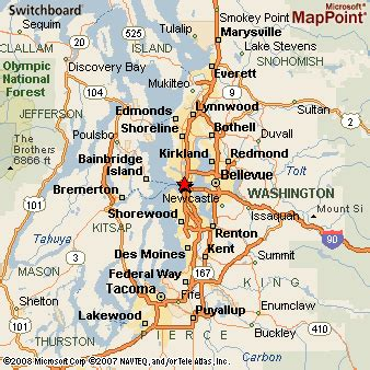 map of seattle area area map