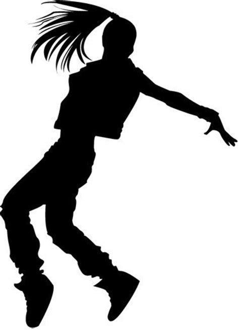 Resultado de imagen para siluetas bailando hip hop | Niñas