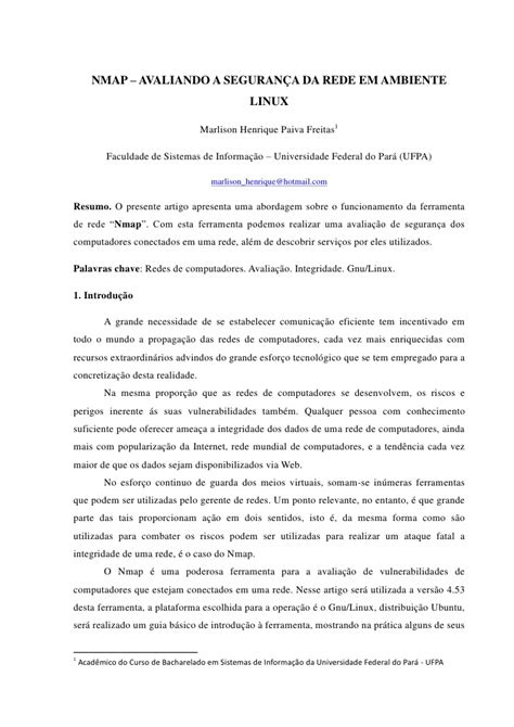 tutorial nmap portugues nmap avaliando rede em ambiente linux
