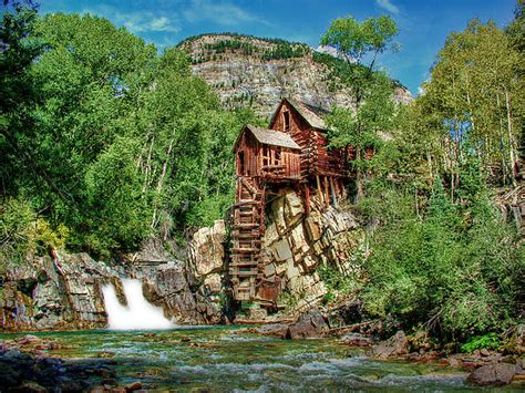 Wood Curtain by Crystal Mill Crystal Colorado Photograph By Ken Smith