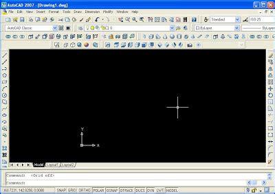 tutorial gambar autocad 2007 merubah tilan autocad 2007 ke tilan classic