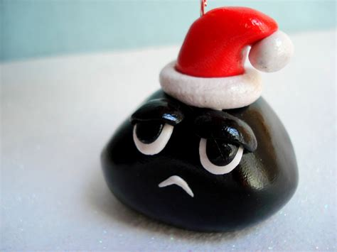 lump of coal christmas ornament gag gift by magicalgifties