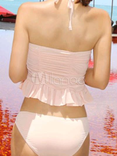 blushing pink color blushing pink solid color draped halter layered s