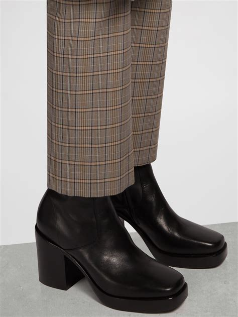 balenciaga boots mens balenciaga leather platform boots in black for lyst