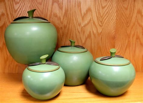 vintage apple canister set found in ithaca 187 fabulous vintage green apple canister