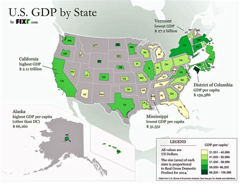 us states economy map map resizes each state proportionally to real