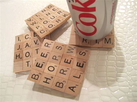 scrabble tiles craft scrabble coasters diy craft project