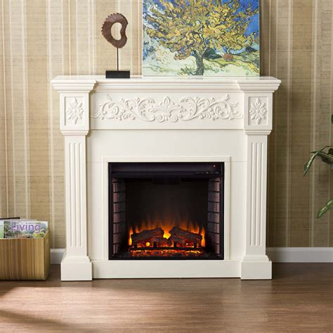 How To Turn On Electric Fireplace antique white electric fireplace portablefireplace