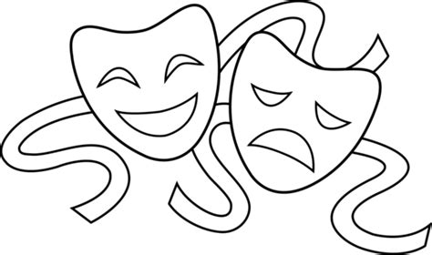 Theatre Mask Outline shs gars