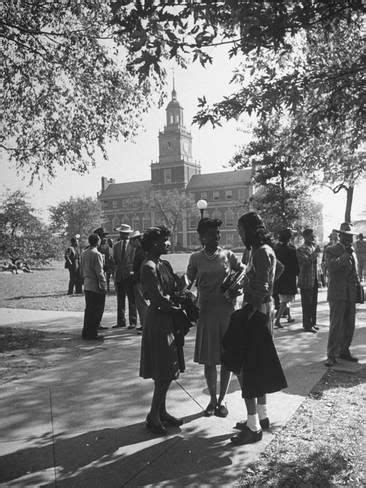Photographic Print: Students on Campus at Howard