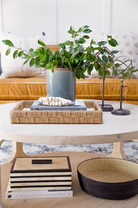how to style a coffee table how to style a round coffee table studio mcgee