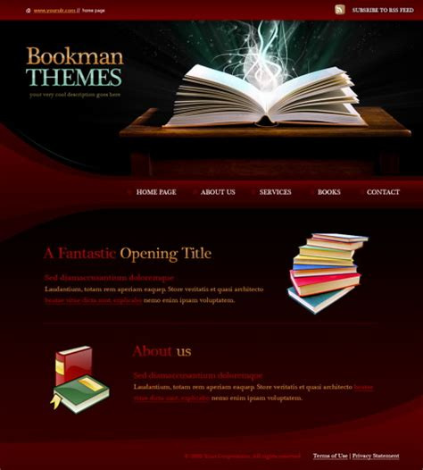 Html Templates For Books | books html template 5963 education kids website