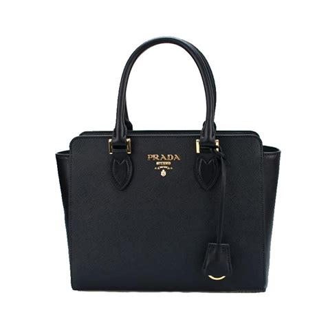 The Bag For The Who Is Doing The Gardener by Prada Saffiano Borsa Leather Tote Handbag 1ba113 Black