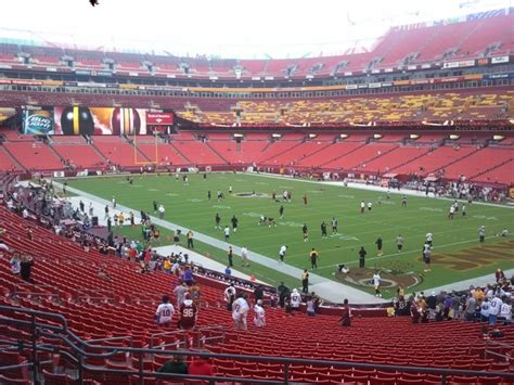 section 215 fedex field fedexfield section 215 rateyourseats com