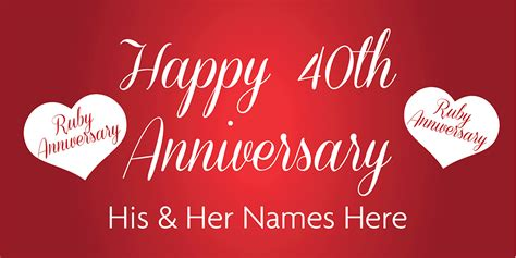 Banner Happy Anniversary anniversary banner ruby 40th 1