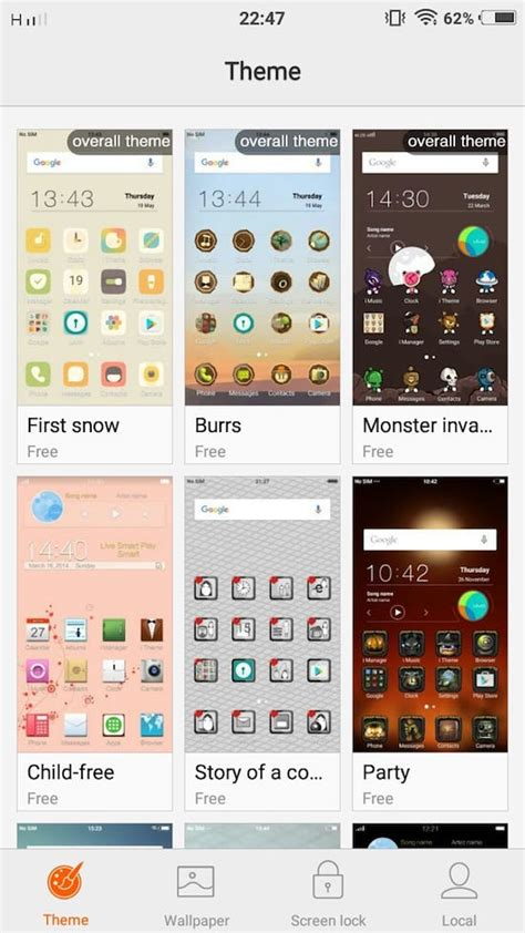 themes for android vivo vivo v5s and vivo v5 themes how to change themes on your