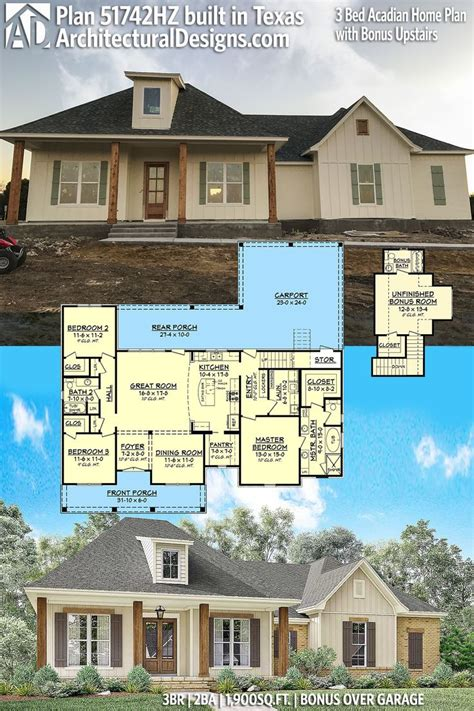 architectural designs acadian house plan 51742hz gives you 159 best acadian style house plans images on pinterest