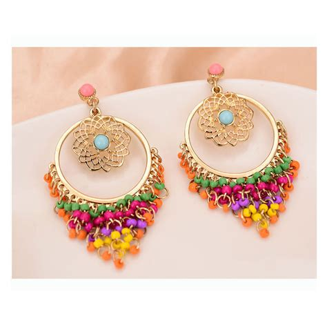 colorful earrings colorful rhinestone drop earrings for fashion crab