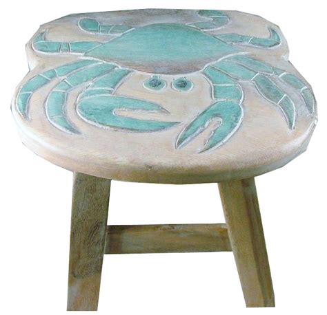 child step stool chesapeake bay blue crab child wooden step stool ebay