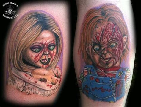 bride of chucky tattoo of chucky designs search tattoos