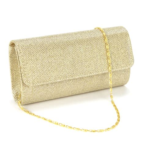Clutch Bag glitter silver gold wedding bridal evening clutch