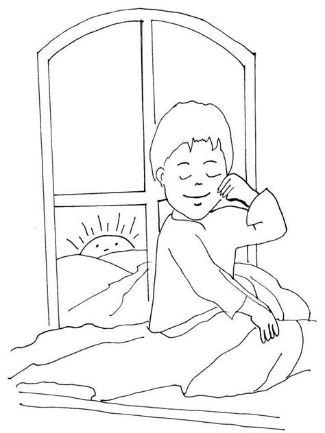 get up coloring page story coloring printable page for kids 1