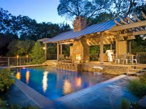 pool and outdoor kitchen designs 20 outdoor kitchens and grilling stations outdoor spaces patio ideas decks gardens hgtv