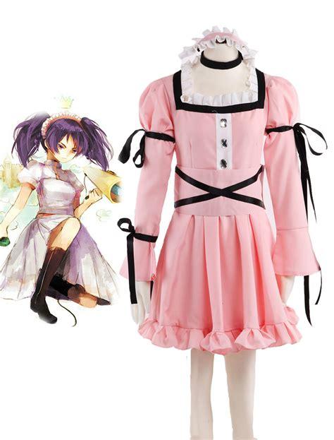 Anime Costumes by The Future Diary Uryuu Minene Pink Dress Anime