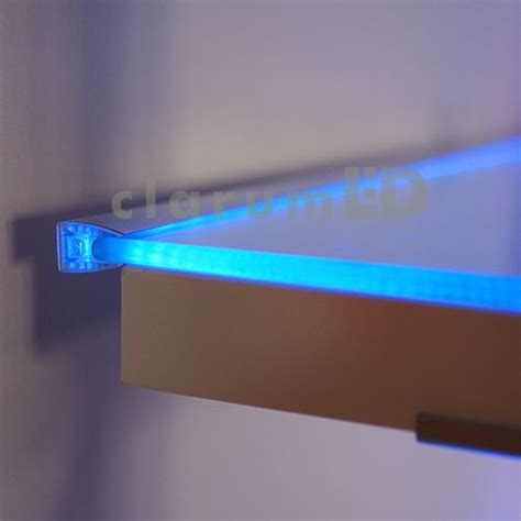 Led Shelf Lights by Mikro Led Profile Led Profile For Glass Anodized Aluminum