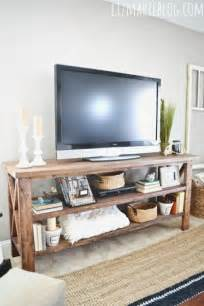 Diy Living Room Tv Stand Diy Tv Console Tv Consoles Tv And Diy Tv