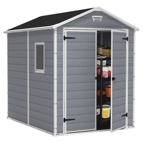 Large Outdoor Storage Sheds by Manor Large Resin Outdoor Storage Shed 6x8 Gray Keter Target