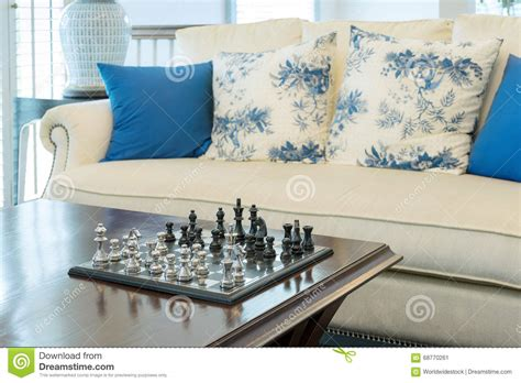 decorative pieces for living room decorative chess board with chess pieces in luxury living room stock photo image 68770261