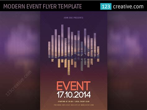 Modern Event Flyer Template Psd On Behance Exhibition Flyer Template