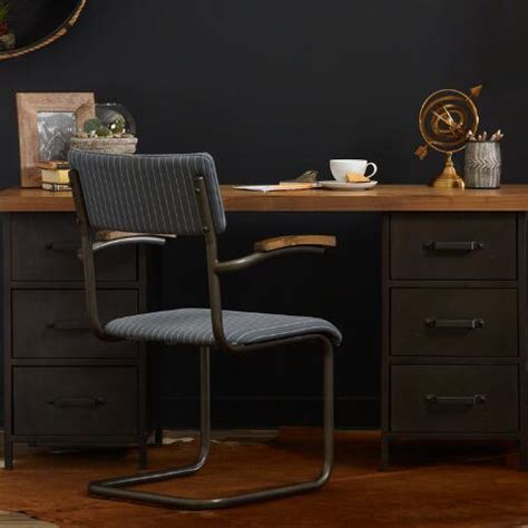 wood and metal drawer colton mix match desk