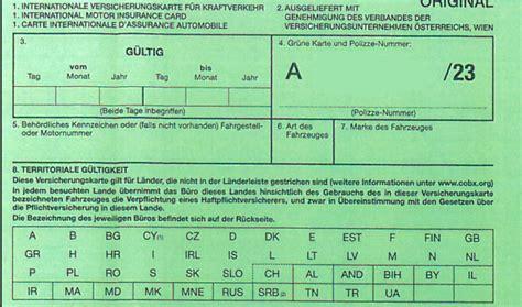 Autoversicherung Italien by Mit Dem Auto Und Der Quot Gr 252 Nen Karte Quot In Den Urlaub