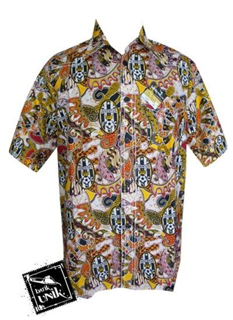 Kemeja Bola Juventus Murah baju batik kemeja smok motif batik bola real madrid