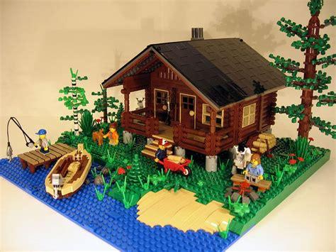lego log cabin lego lapland cabin the birch tree legos