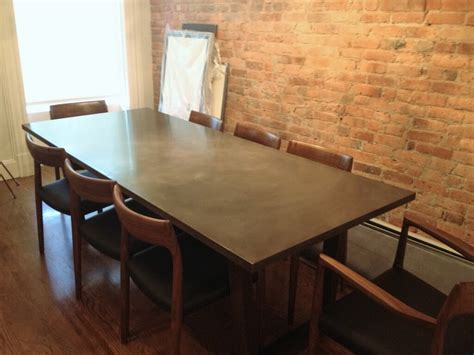 Concrete Dining Room Table by Custom Furniture By Custom Custom