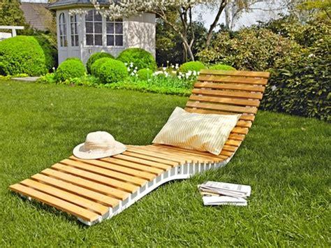 relaxliege holz bauanleitung garten und bauen