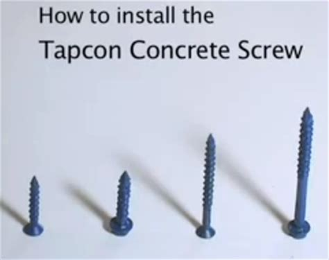 What Size Screws For Cabinet Installation by Installing Cabinets With Tapcon Screws