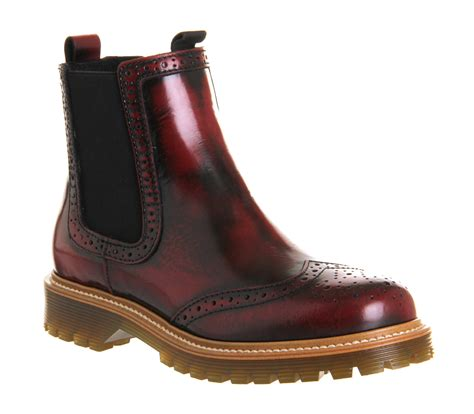 Brogue Chelsea Boots office brogue chelsea boot burgundy leather