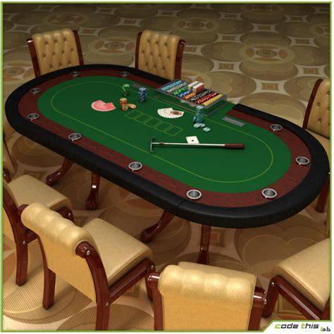 Casino Tables by Casino Cards Table 3d Model
